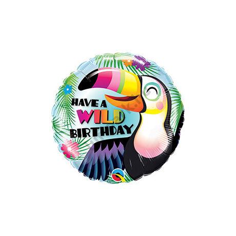 18 inch-es Have a Wild Birthday - Tukán Szülinapi/Születésnapi Fólia Lufi