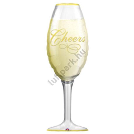 Pezsgőspohár - Champagne Glass - Super Shape Fólia Léggömb