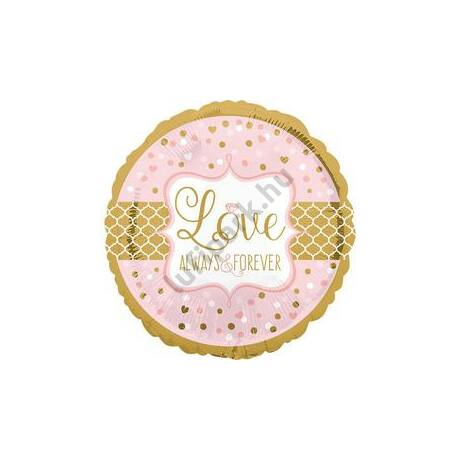 28 inch-es Sparkling Wedding Szerelmes - Love - Alwasy&Forever Super Shape Fólia Lufi/Léggömb