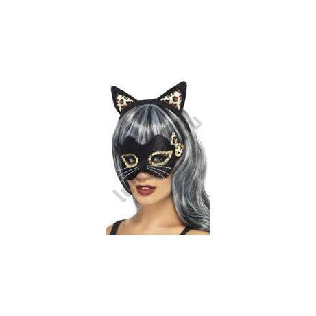 b1e8c52815 Fekete cica fül és szemmaszk szett - Maszkok, álarcok, kiegészítők ...