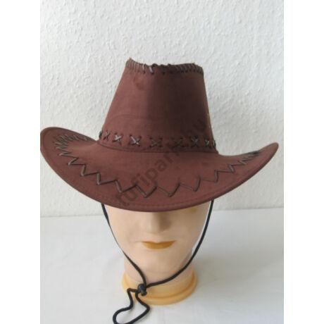 Kalap cowboy velúr