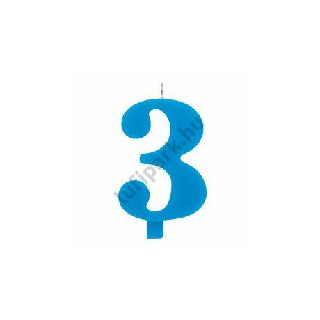 3. Csillagszórós Kék Szülinapi Születésnapi Számgyertya Tartóval