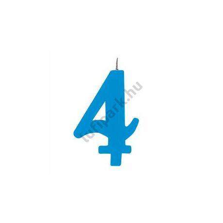 4. Csillagszórós Kék Szülinapi Születésnapi Számgyertya Tartóval