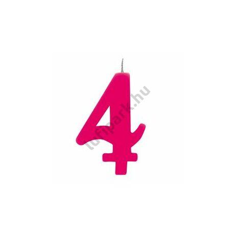 4. Csillagszórós Pink Szülinapi Születésnapi Számgyertya Tartóval