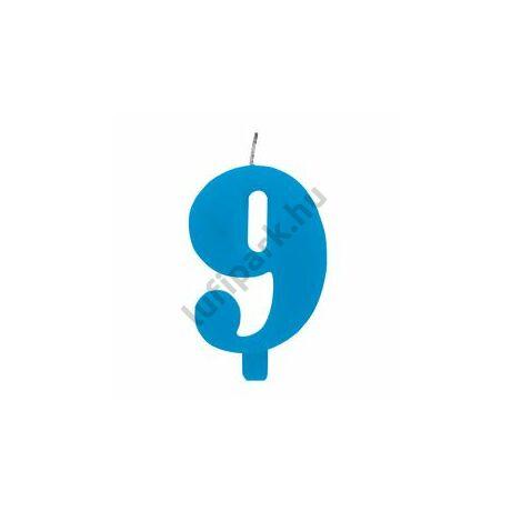 9. Csillagszórós Kék Szülinapi Születésnapi Számgyertya Tartóval
