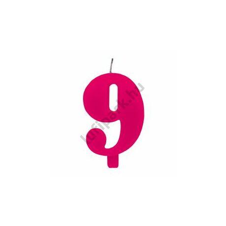 9. Csillagszórós Pink Szülinapi Születésnapi Számgyertya Tartóval
