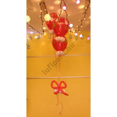 """Levél a Télapóhoz""""  karácsonyi mintás, héliumos csokor"""