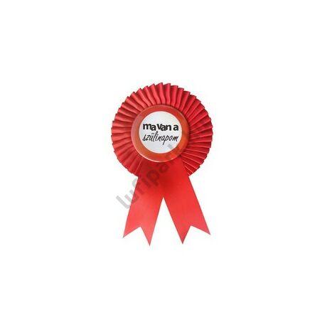 Piros Szalagos Ma van a szülinapom Feliratú Sebességkorlátozós Parti Kitűző