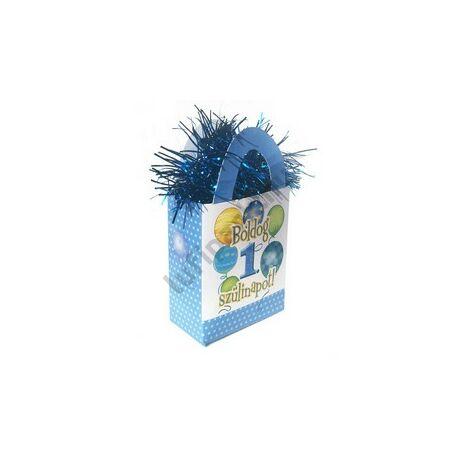 Boldog 1. Szülinapot! Léggömbös Kék Fiús Ajándéktasak Léggömbsúly