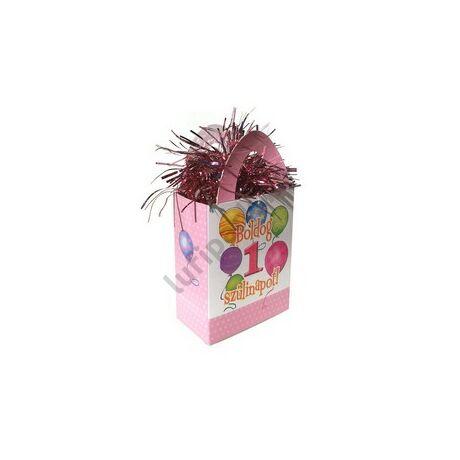 Boldog 1. Szülinapot! Léggömbös Rózsaszín Lányos Ajándéktasak Léggömbsúly
