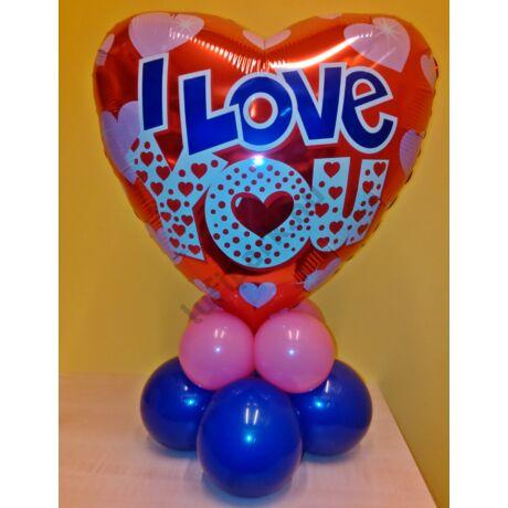 Valentin szívecskés I LOVE YOU dekoráció