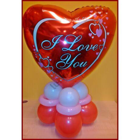 Valentin szívecskkés dekoráció 3szín