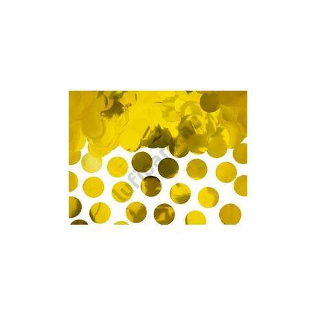 Nagy Kerek Fényes Arany Fólia Konfetti - 15 gramm