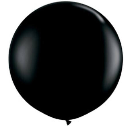 3 feet-es Onyx Black (Fashion) Kerek Latex Lufi