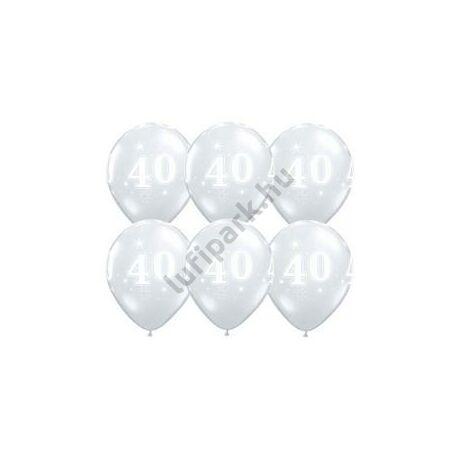 11 inch-es 40-es Sparkle-A-Round Diamond Clear Szülinapi Lufi