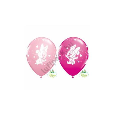11 inch-es Baby Minnie Hearts Pink & Berry Lufi