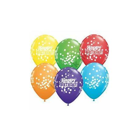 11 inch-es Bright Rainbow Confetti Dots Assortment Lufi