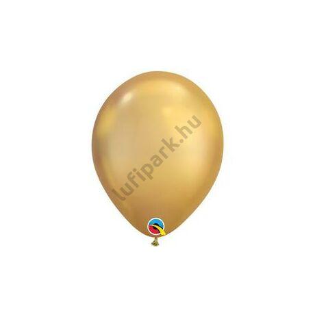 11 inch-es Chrome Gold - Arany Kerek Lufi