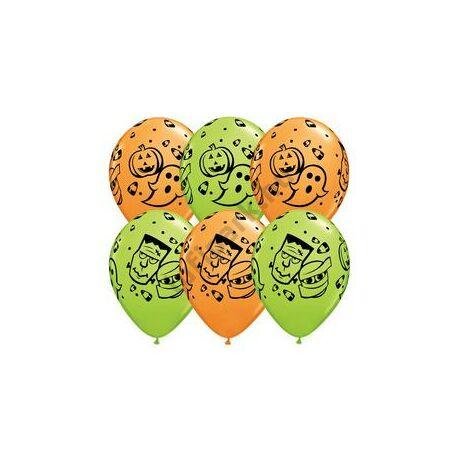 11 inch-es Halloween Fun! Orange & Lime Green Lufi