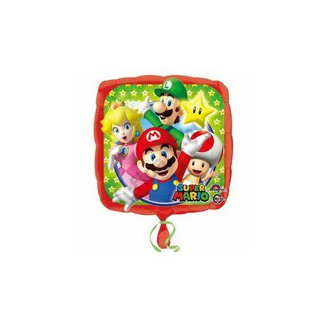17 inch-es Super Mario és Csapata Fólia Lufi