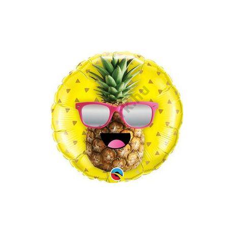 18 inch-es Mr. Cool Pineapple - Ananász Gyümölcsös Napszemüveges Fólia Lufi