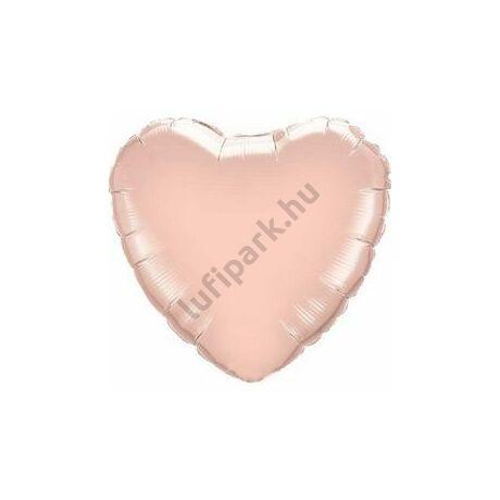 18 inch-es Rózsaarany - Rose Gold Szív Fólia Lufi