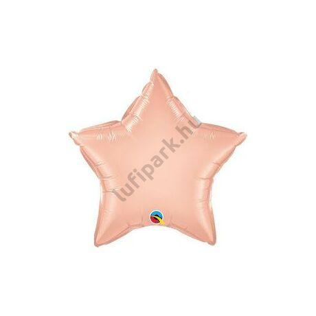 20 inch-es Rózsaarany - Rose Gold Csillag Fólia Lufi