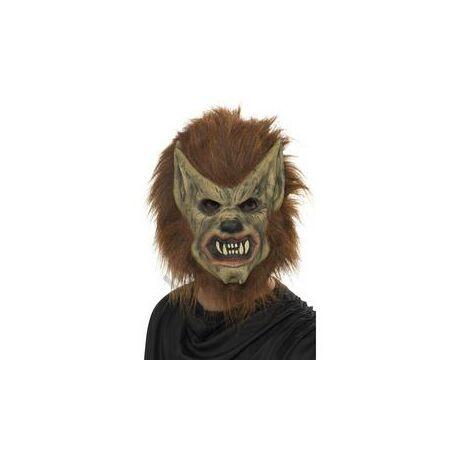 Barna Szőrös Farkasember Maszk