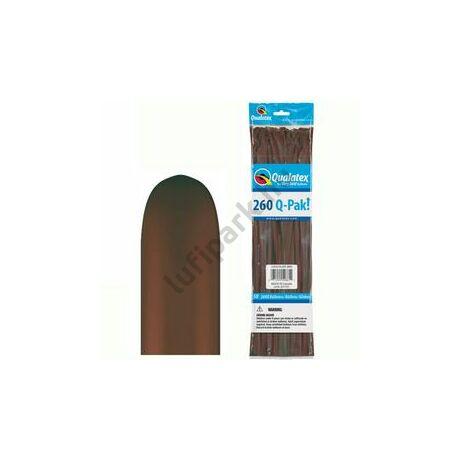 260Q Chocolate Brown (Fashion) Q-Pak Party Modellező Lufi