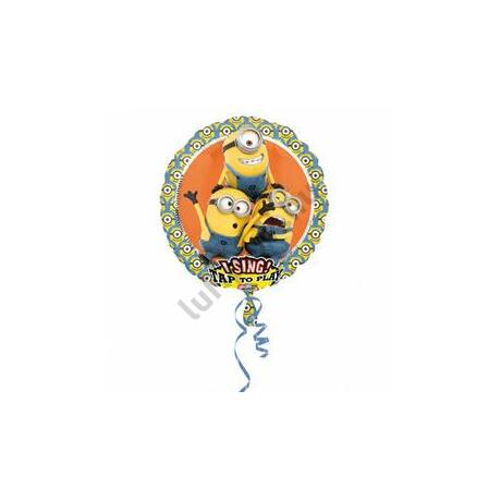 28 inch-es Minion - Despicable Me Éneklő Szülinapi Fólia Lufi
