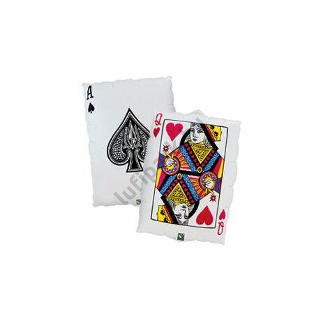 30 inch-es Kártyalap - Queen of Hearts/Ace of Spades Fólia Lufi