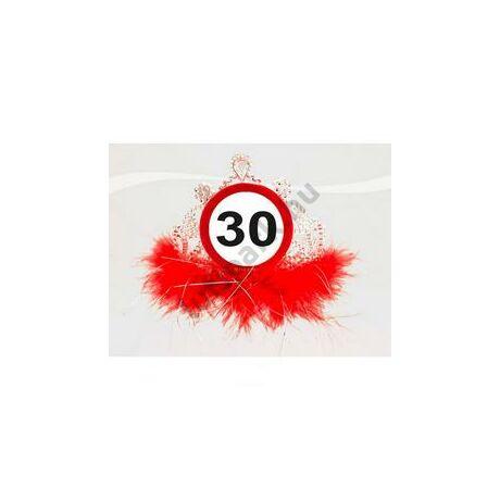 30-as Sebességkorlátozó Számos Szülinapi Parti Tiara