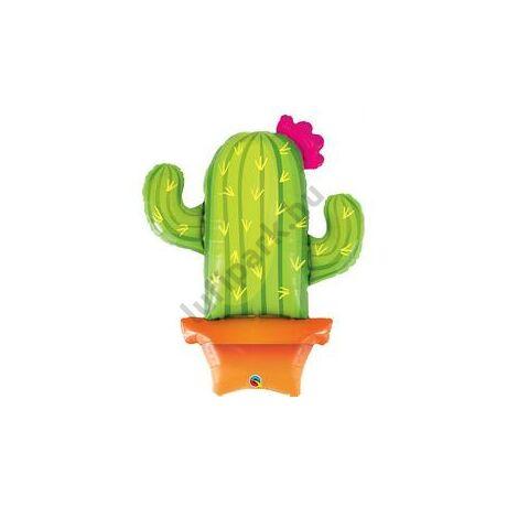 39 inch-es Potted Cactus - Kaktusz Cserépben Fólia Lufi