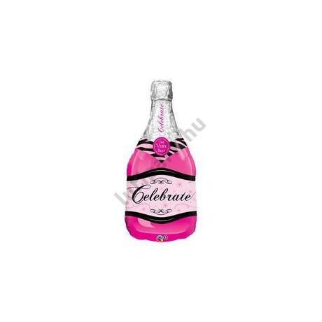 39 inch-es Bottle Celebrate Pink Bubbly Wine Fólia Lufi