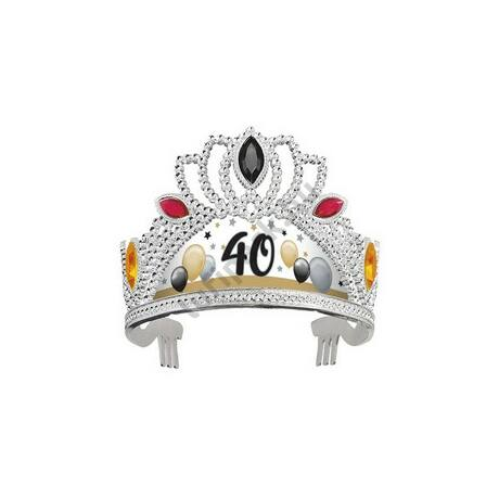 40-es Számos Szülinapi Elegáns Léggömbös Ékköves Tiara