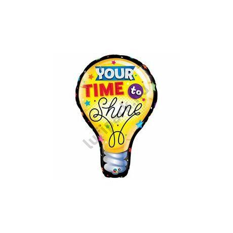 40 inch-es Your Time To Shine Super Shape Ballagási Fólia Lufi