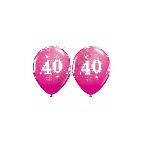 11 inch-es 40-es Sparkle-A-Round Wild Berry Szülinapi Lufi