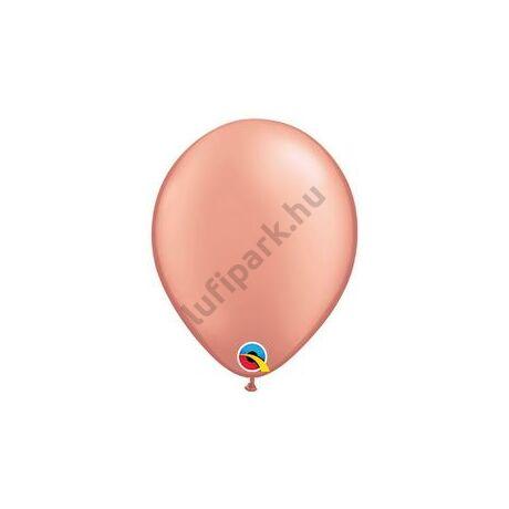 5 inch-es Rózsaarany - Rose Gold Kerek Lufi