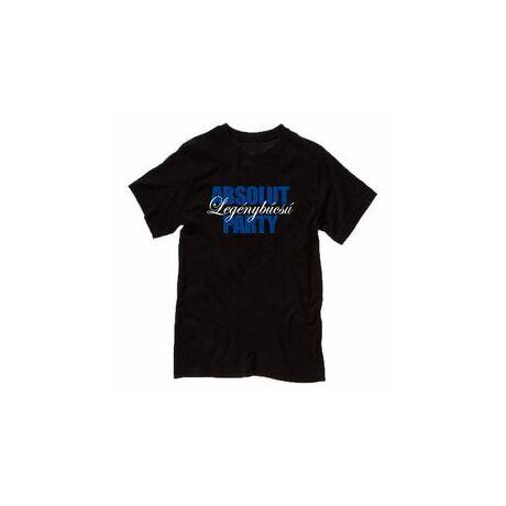 Absolut Legénybúcsú Party Fekete Póló - M-es