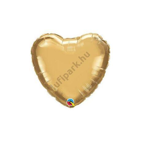 18 inch-es Chrome Gold Szív Fólia Lufi