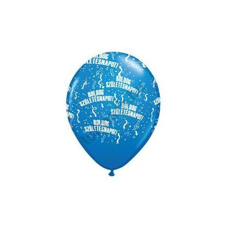 11 inch-es Boldog Születésnapot Dark Blue Lufi