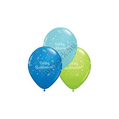 11 inch-es Boldog Születésnapot Shining Star Lufi Fiús Színekben