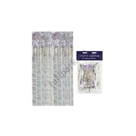 Csillogó Ezüst/Holografikus Ajtódekoráció - 90 cm x 250 cm