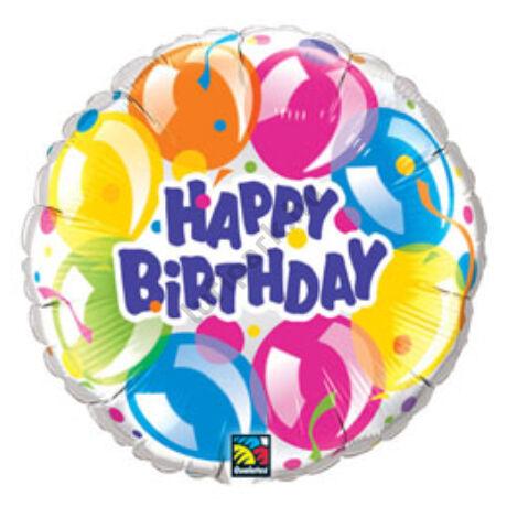 18 inch-es Szikrázó Lufik - Birthday Sparkling Balloons Szülinapi Fólia Lufi