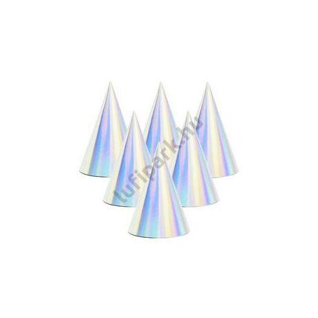 Fényes Ezüst - Hologramos Party Csákó - 6 db-os
