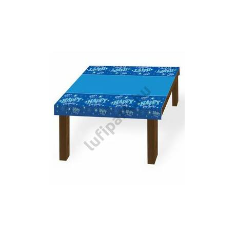 Happy Birthday Kék Sparkle Szülinapi Parti Asztalterítő - 130 cm x 180 cm