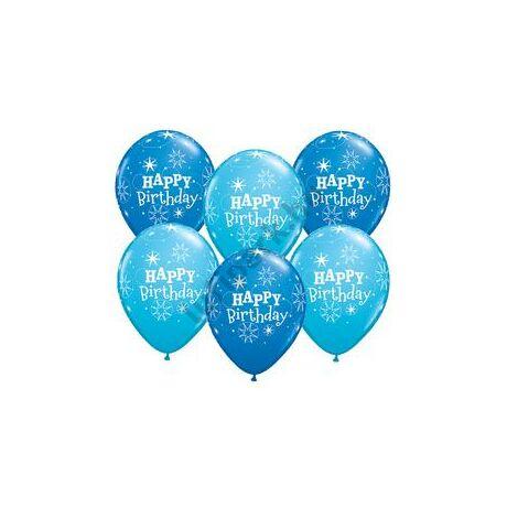 11 inch-es Birthday Sparkle Dark Blue & Robin's Egg Blue Szülinapi Lufi