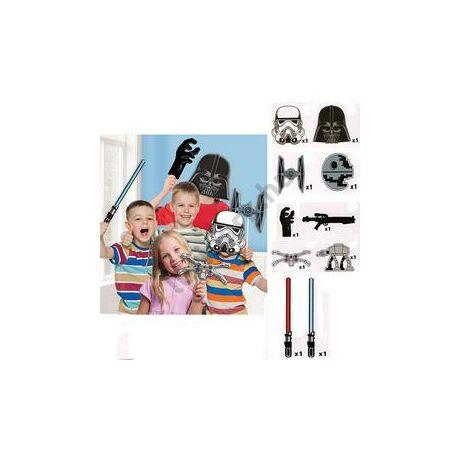 Star Wars Kellékek Pálcán Fotózáshoz - 10 db-os