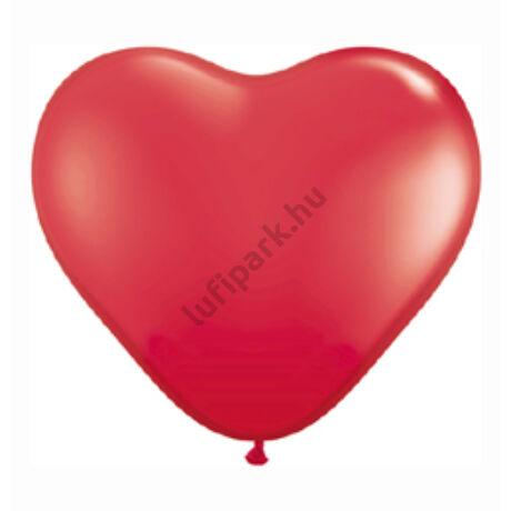 11 inch-es Red (Standard) Szív Latex Lufi