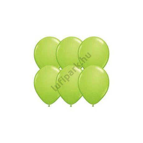 11 inch-es Lime Green (Fashion) Kerek Lufi (25 db/csomag